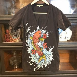 Urban Outfitters Koi Fish T- Shirt